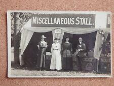 R&L Postcard: Fund Raising Stall/Jumble Sale, Fred Price, Cardiff? Circa WW1