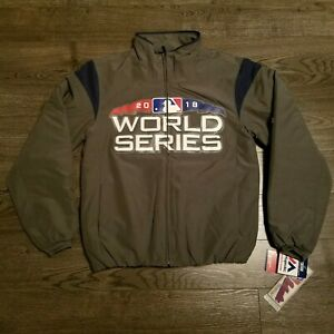 MAJESTIC Therma Base MLB 2018 World Series Quilted Bomber Jacket Red Sox SMALL