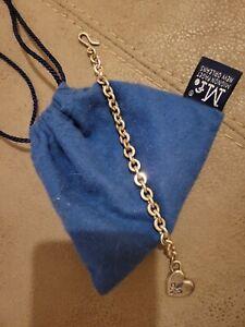 Mignon Faget Sterling Silver Fleur-de-lis Heart Bracelet