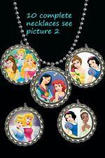Disney Princess Bottle Cap Necklaces great party favors lot of 10Ariel belle +