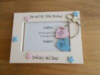 Me and My Little Brother Big Brother Keepsake Photo Frame Gift Personalised 6x4