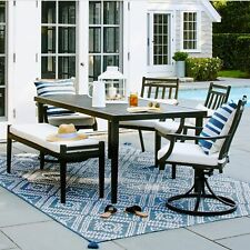 Fairmont Steel Patio Dining TABLE Black - Threshold (TABLE ONLY)