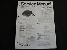 ORIGINALI service manual TECHNICS sl-xp370