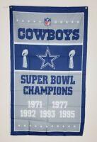 Dallas Cowboys Super Bowl Banner 3x5 Ft Flag Man Cave Wall Decor NFL Football