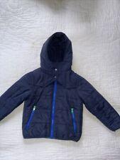 Stella McCartney Kids Navy Blue Hooded Long Sleeves Warm Jacket Size 6 Years