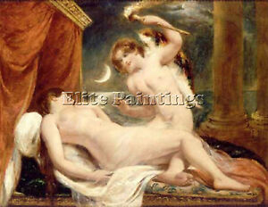 ETTY WILLIAM CUPID AND PSYCHE ARTIST PAINTING REPRODUCTION HANDMADE OIL CANVAS