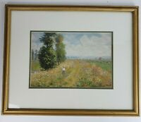 Meadow with Poplars Claude Monet Impressionist Modern Framed Wall Art 22x18 Inch