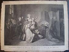 SILANIO (1759 - 1838):  La Dernière entrevue de Louis ¦XVI¦ seize avec sa famill