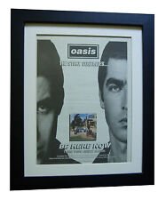 OASIS+Be Here Now+Stand+POSTER+AD+RARE ORIGINAL 1997+FRAMED+EXPRESS GLOBAL SHIP