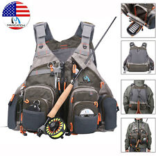 Maxcatch Mutil-Pocket Fly Fishing Mesh Vest Adjustable Universal Size Outdoor