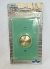 Vintage MCM 1970's Leviton Aqua turquoise Dimmer Light Switch New old Stock