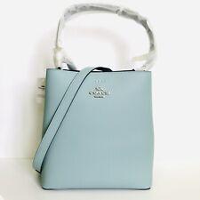 Coach Town Bucket Bag Seafoam Blue Shoulder Bag Leather Purse Crossbody NWT $398