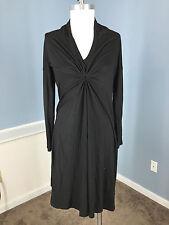 Veronique Maternity S Black Jersey Knit Twist Knot Dress Excellent long sleeve