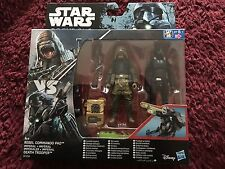 Star Wars Rogue One Imperial Death Trooper and Rebel Commando Pao figure set