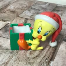 Warner Brothers 1997 Tweety Bird Christmas Figurine/Trinket Box Missing Top