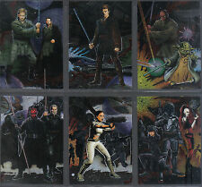 STAR WARS HERITAGE COMPLETE SET OF 6 FOIL CARDS