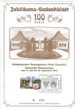 Jubiläumsgedenkblatt 100 Jahre Rosengarten bitte lesen