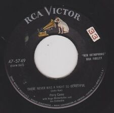 PERRY COMO {50s Vocal Pop} There Never Was A Night So Beautiful /Hit & Run ♫HEAR