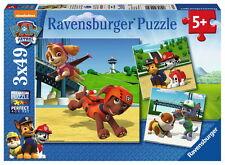 3 X 49 Teile Ravensburger Kinder Puzzle Paw Patrol Team auf 4 Pfoten 09239