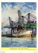 Verladebrücke Demag Duisburg Reklame 1941 Werbung Kran Hafen