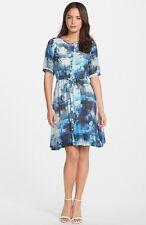 New Summer Adrianna Papell Cap Sleeve Dress Size 12