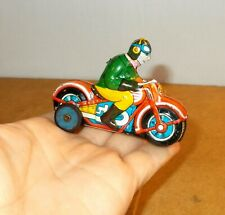 Vintage tin penny toy - LINE MAR TOYS linemar japan - friction MOTORCYCLE - 60s