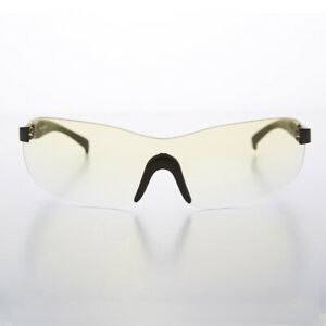 Rimless Sport Shield Vintage Sunglass with Yellow Gradient Lens - Lance