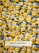 Despicable Me Fabric - Yellow Minion Characters One In A Minion QT #23989S- Yard
