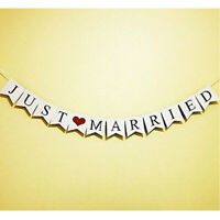 Just Married Garland Wedding Banner Car Bunting Western Venue Party Deco SYR