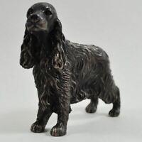 Cocker Spaniel Bronze Effect Statue Sculpture Dog Figurine Ornament