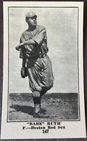 1917 Collins-McCarthy Boston Red Sox E-135 Reprint Team Set (17) Cards w/ Ruth