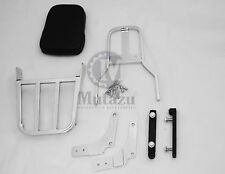 Mutazu Chrome Sissy Bar Backrest & Luggage Rack for Suzuki VZ800 MARAUDER