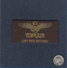 Capitán Pete Maverick Mitchell Nuevo Top Gun Película Dos Nombre Tag Squadron