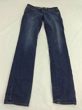 ABERCROMBIE & FITCH WOMENS DARK WASH STRAIGHT CUT JEANS SIZE 2L