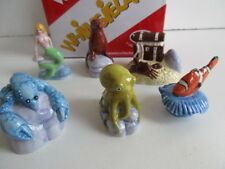 2008 WADE SET 1 UNDER THE SEA WHIMSIES 6 ITEMS INC MERMAID,LOBSTER ETC BOXED