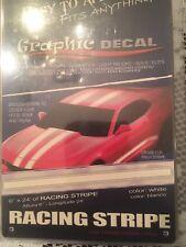 """Rally Racing Stripes White 6"""" X 24' Enough To To Hood Trunk & Top Arizona White"""