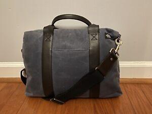 Jack Spade Blue Waxwear Davis Briefcase - used in good condition