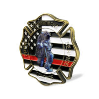 Firefighters Challenge Coin US A Thin Red Line Life Savior Honorable Gift