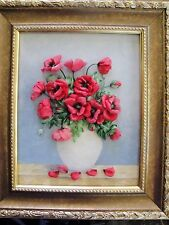 Silk ribbon embroidery 'Poppies'