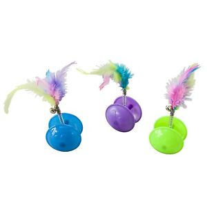 Ethical Spot Tie Dye Jingle Ball With Feathers Cat Toy (1 Toy - Colors Vary)