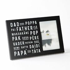 DAD POPPA BABA FATHER PERE POP VARIOUS LANGUAGE PICTURE FRAME~FATHER'S DAY