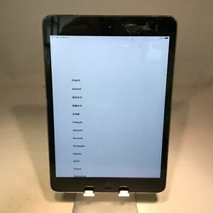 Apple iPad Mini 2 16GB Space Gray WiFi - Cracked Screen - Fully Functional!