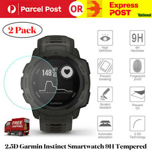 2 Pack 2.5D For Garmin Instinct Smartwatch Tempered Glass Screen Protector Film
