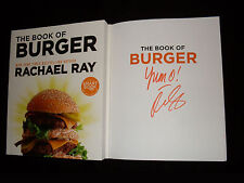 Rachael Ray signed The Book of Burger 1st printing softcover book