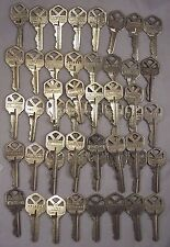 KW1 Kwikset Brass Cut Keys Silver Arts Crafts Steampunk Metal Work Lot Of 50 B