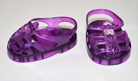 "Fits American Girl Our Generation 18"" Dolls Clothes Shoes Purple Jelly Sandals"