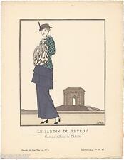 BOUTET DE MONVEL Pochoir Art Déco ORIGINAL N°1 pl. VI - 1914 GAZETTE DU BON TON