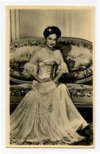 1930s Vintage movie star MERLE OBERON photo postcard