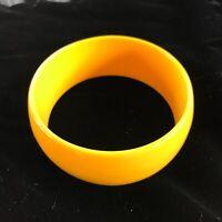 "Quality Bright Yellow 1"" Wide Bangle Bracelet"