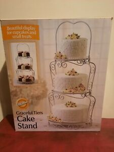 Wilton: GRACEFUL TIERS CAKE STAND  NEW IN BOX